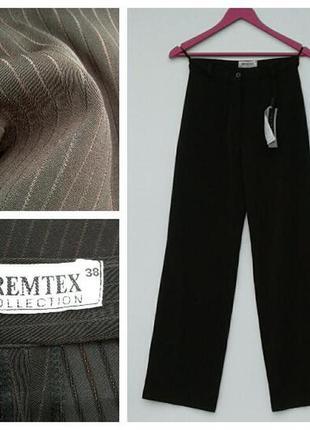 Новые брюки шоколадного цвета с высокой посадкой s-m