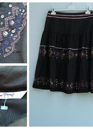 Нарядная юбка летняя пышная юбка с вишивкой