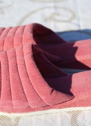 Мягенькие тапочки для дома нюдового цвета