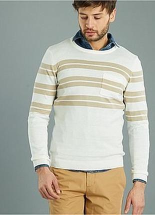 Лёгкий мужской джемпер французского бренда kiabi  европа оригинал