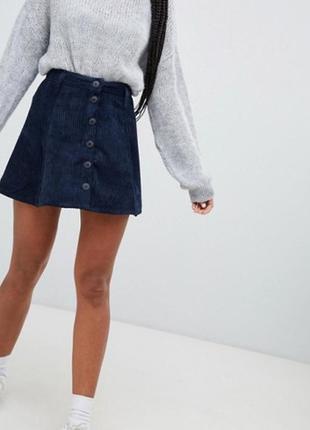Новая вельветовая юбка bershka