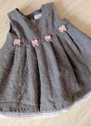 Шерстяное платьеце