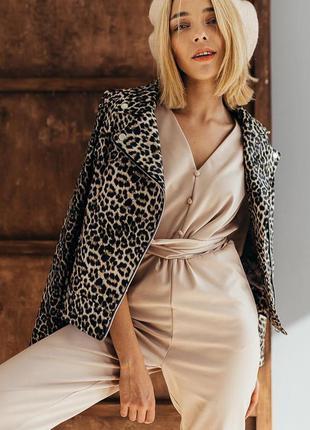 Куртка кожзам леопардовая косуха курточка кожанка