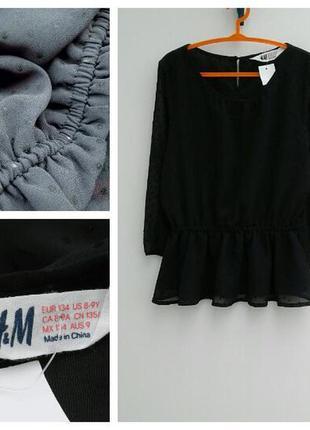Шифоновая блузка для девочки 8-9 лет красивая нарядная от брен...