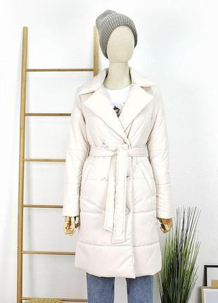 Удлиненная куртка пальто пуховик тренч демисезонная на весну с...