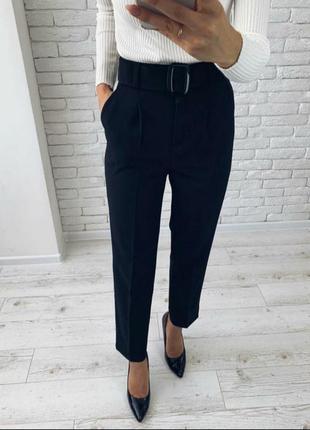Идеальные черные укороченные брюки