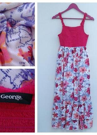 Платье для девочки 13-14 лет вискоза красивое платье в цветочн...