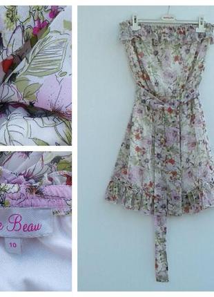 Летнее платье бюстье нежное платье