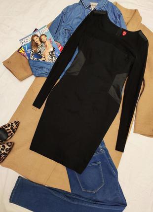 Miss captain чёрное классическое вечернее хлопковое платье с п...