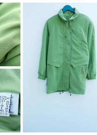 Красивая куртка парка большой размер цвета зеленого яблока