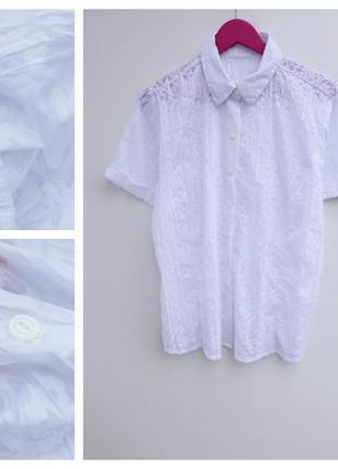 Снежно белая рубашка супер качества большой размер