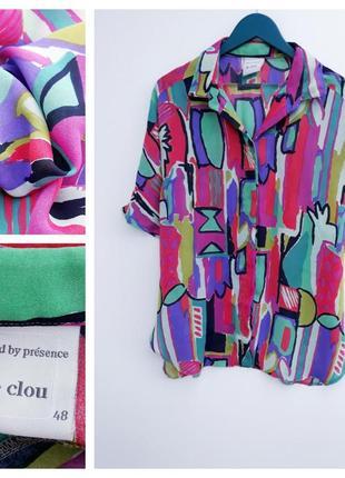 Очень красивая рубашка винтажная рубашка большой размер