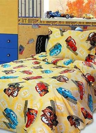🔥💛сатин постельный комплект тачки 💛