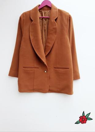 Шерстяное пальто бойфренд с кашемиром и широким рукавчиком l-x...