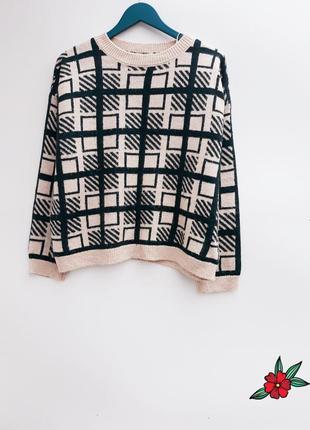 Теплый плотный свитер оверсайз большой размер
