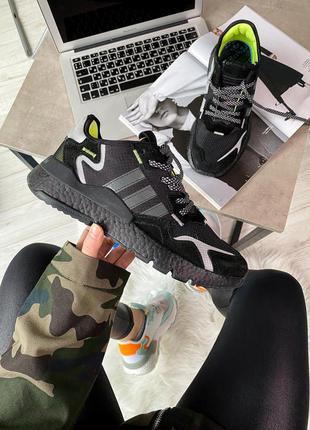 Кроссовки adidas nite jogger 3m core black мужские крутые топ ...