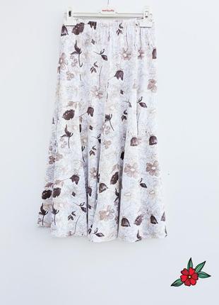Красивая юбка миди вискоза нежная юбка миди