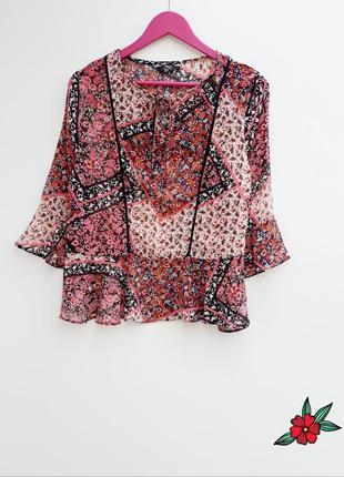 Шифоновая рубашка блузка шикарная воздушная рубашка