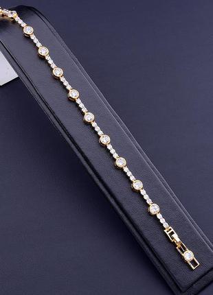 Браслет 'xuping' фианит 17 см. (позолота 18к) 0887040