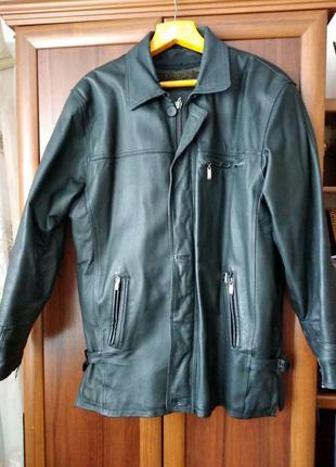 Мужская зимняя кожаная куртка 5xl