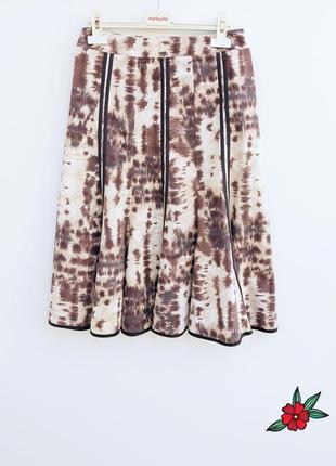 Натуральная юбка миди красивая юбка миди с отделкой