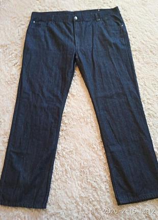 Качественные классические джинсы 100% котон, большой размер 58...