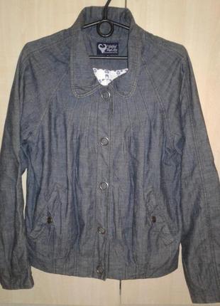 Джинсовая куртка ветровка, пиджак bikbok