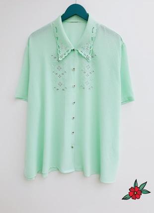 Мятная рубашка нереально красивого цвета большой размер рубашк...