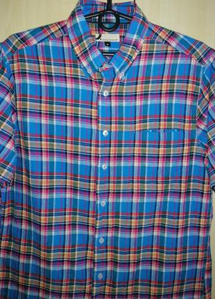 Рубашка тенниска льняная dressmann