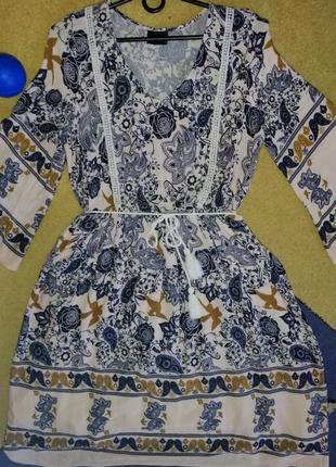 Красивое платье в бохо стиле vila clothes