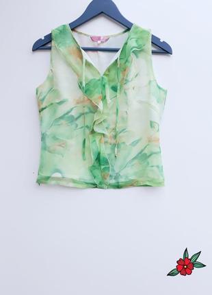 Нежная шифоновая маечка нарядная блуза легкая блуза