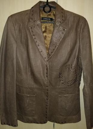 Куртка пиджак кожаная passport