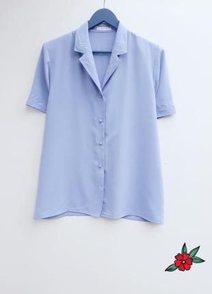 Нарядная рубашка лиловая рубашка блузка с вышивкой большой размер
