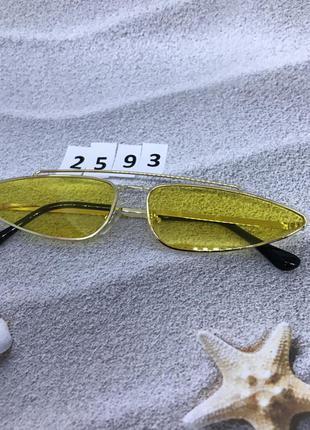 Модные очки,цвет линз желтый к. 2593