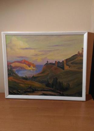 Картина генуэзская крепость, масло, холст