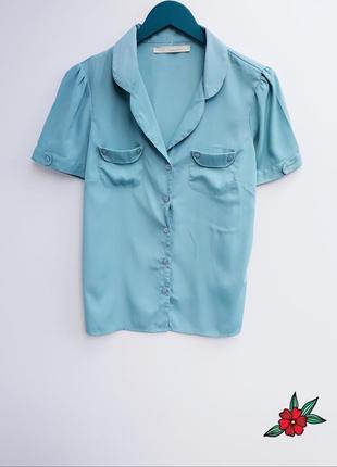 Красивая рубашка на пуговицах рубашка с коротким рукавом супер...