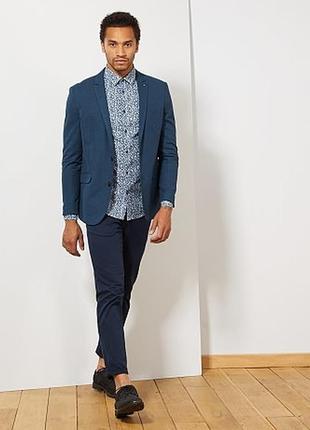 Льняной мужской пиджак французского бренда kiabi, оригинал европа
