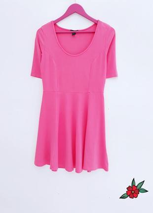 Нежно розовое платье трикотажное натуральное платье