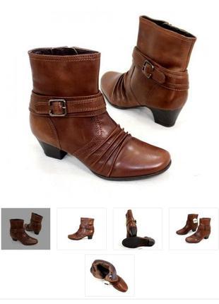 Женские кожанные полусапожки, ботинки, полуботинки, сапоги евр...