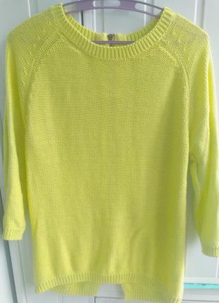 Кофта реглан от zara knit лимонного цвета