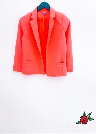 Яркий блейзер пиджак жакет неоновый жакет невероятного цвета
