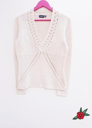 Нежный красивый свитер бежевый свитерок от mexx