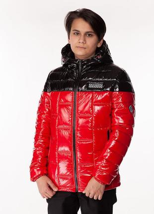 Den - детская демисезонная куртка, цвет красный