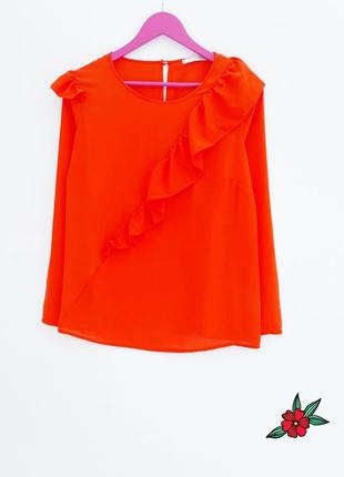 Яркая блуза с рюшами ексклюзивная блузка с рюшей