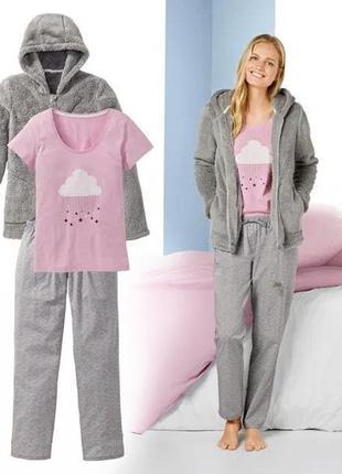 Домашний костюм тройка - пижама и куртка 3-в-1 esmara® германия