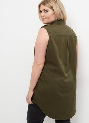 Рубаха,безрукавка,жилет,блуза,туника большущего30/58размера,хл...