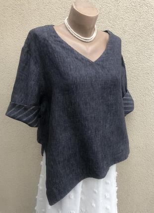 Льняная блуза,рубаха,ассиметрия,этно бохо стиль,