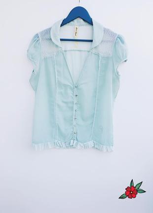 Мятная рубашка нежная рубашка мятного цвета