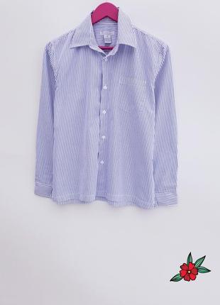 Качественная рубашка в полоску в мужском стиле