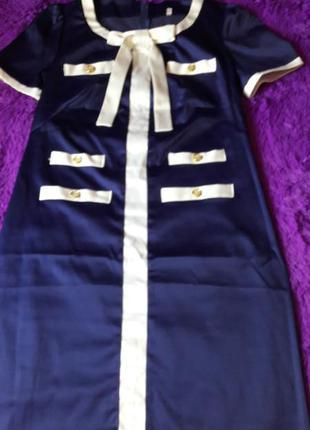 Платье стрейч-атлас